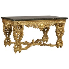 Finely Carved Louis XIV/Regence Style Giltwood Centre Table, circa 1880