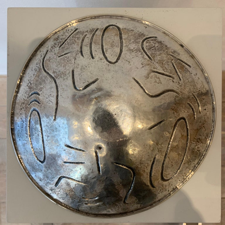 Finzi Silver Bowl with Stones Inserted, circa 1950s 2