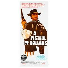 'A Fistful of Dollars' Original Vintage Australian Daybill Movie Poster, 1967