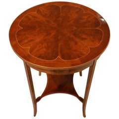 A flamed mahogany Edwardian Period circular occasional table