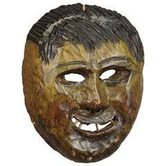 Folksy Hand Carved Tyrolian Carnival Fasnet Mask