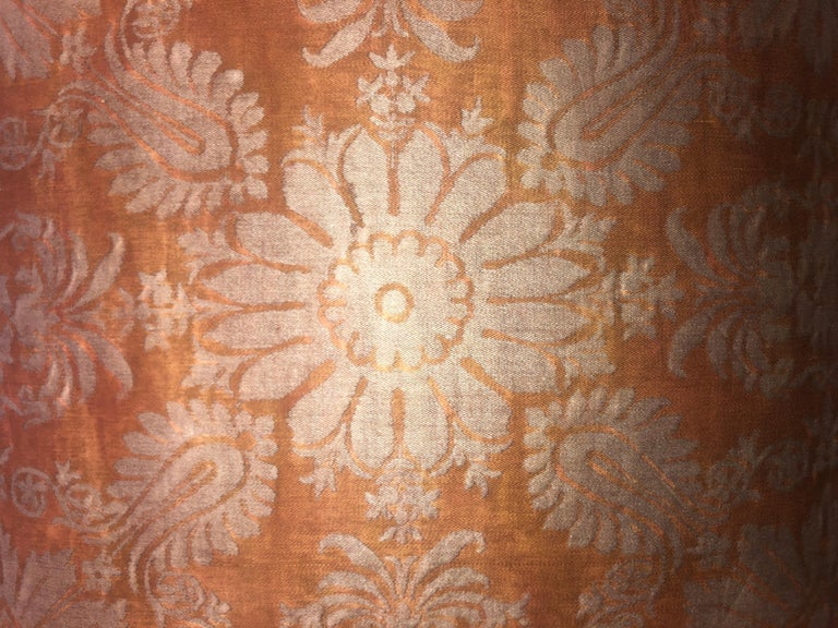 North American Fortuny Fabric Cushion in the Impero Pattern For Sale