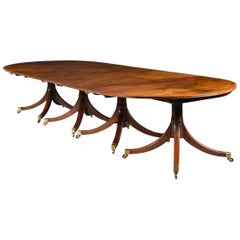 Four Pillar George III Mahogany Dining Table