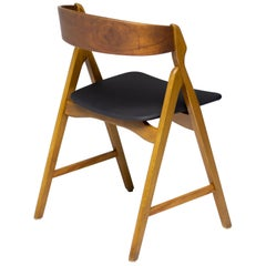 """A"" Frame Teak Danish Dining Chairs"
