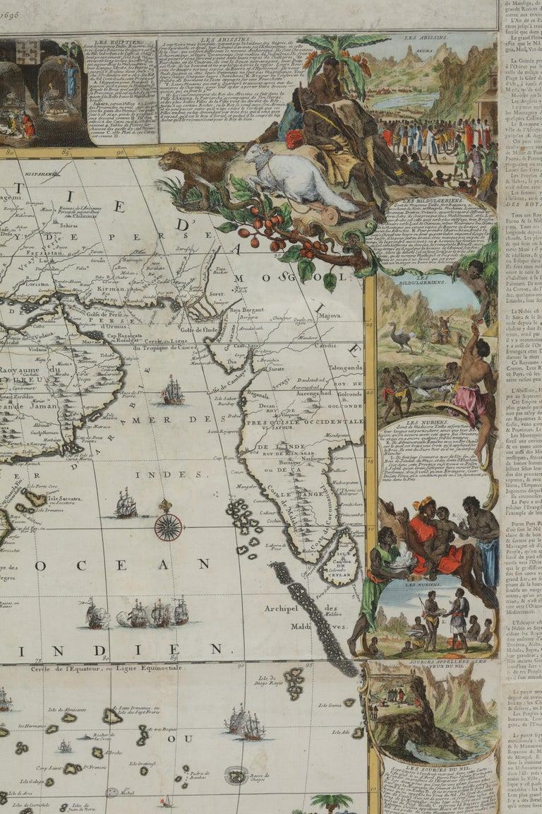 Nicolas de Fer(PARIS 1647-1720)  L'Afrique divisée selon letendu de ses principales parties, et dont les points principaux sont placez sur les observations des Messieurs de l'Academie Royale des Sciences. Dressée par N. De Fer, Geographe de