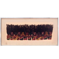 Framed Pre-Columbian Textile