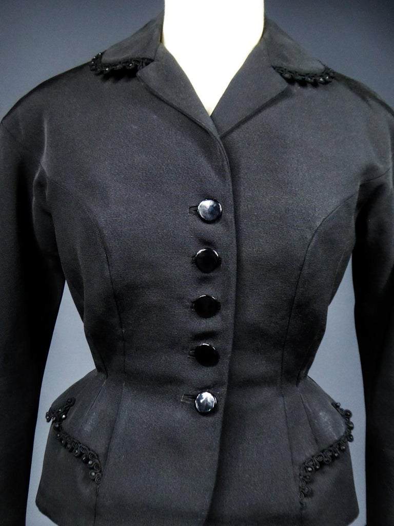 Women's A Frank & Fils French Bar Jacket New Look Period Paris Circa 1948/1950 For Sale