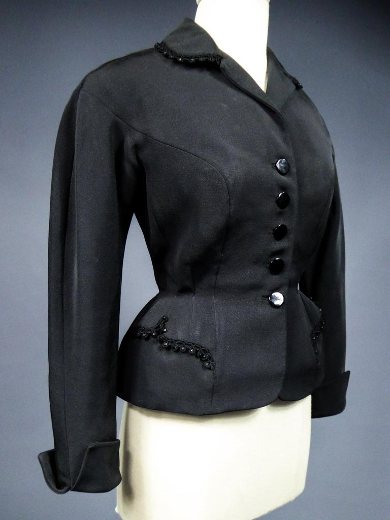 A Frank & Fils French Bar Jacket New Look Period Paris Circa 1948/1950 For Sale 3