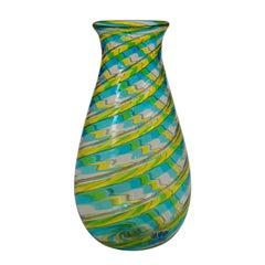 Fratelli Toso 'A Canne' Vase with Aventurin, Murano, circa 1965