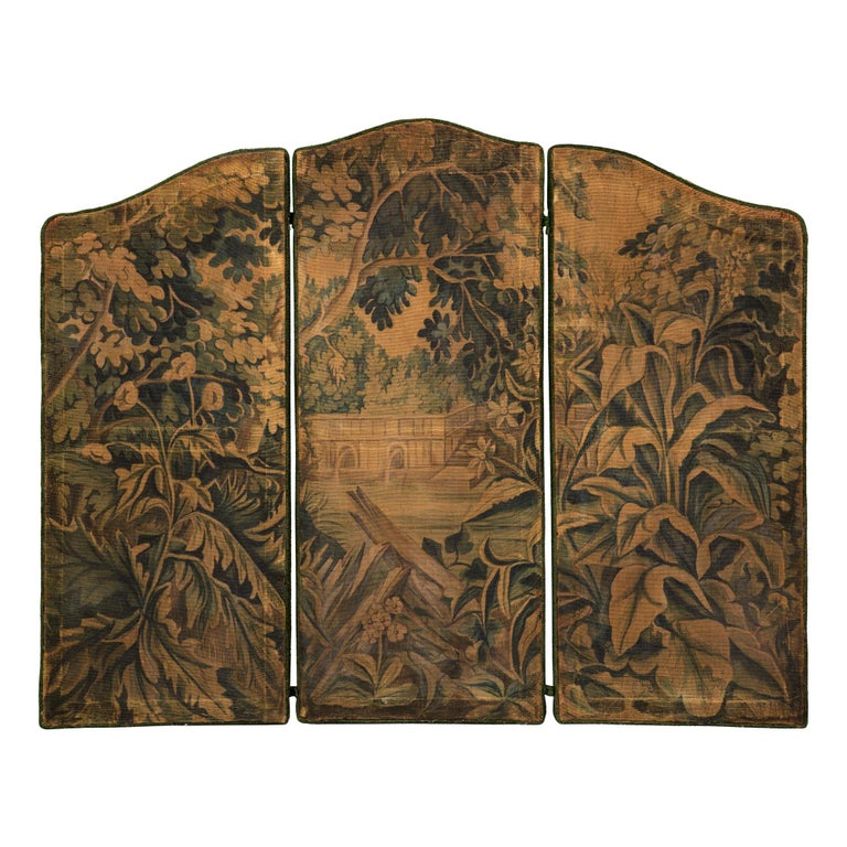 French 18th Century Decorative Tapestry Screen For Sale