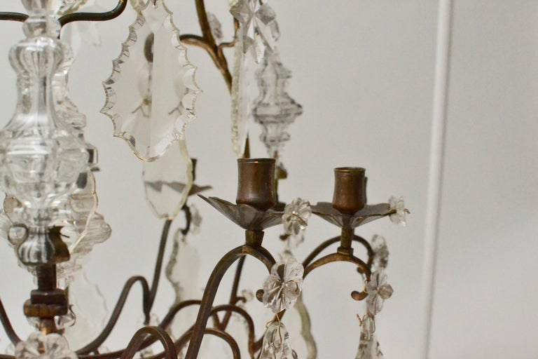 French 18th Century Louis XV Chandelier, Mid 18th Century In Good Condition For Sale In Stockholm, SE