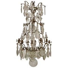 French 18th Century Louis XV Chandelier, Mid 18th Century