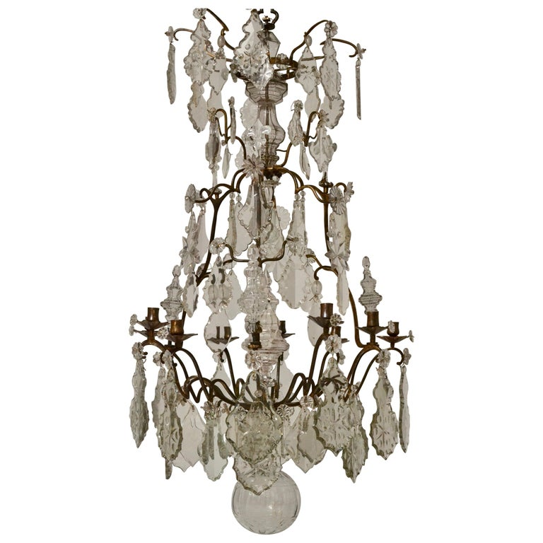 French 18th Century Louis XV Chandelier, Mid 18th Century For Sale
