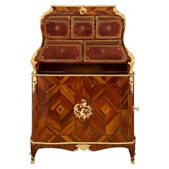 French 18th Century Louis XV Period Cartonnier, Signed Jacques DuBois