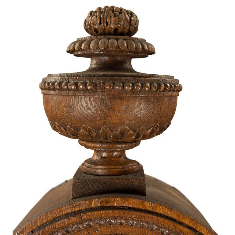 French 18th Century Louis XVI Period Oak Grandfather Clock For Sale 1