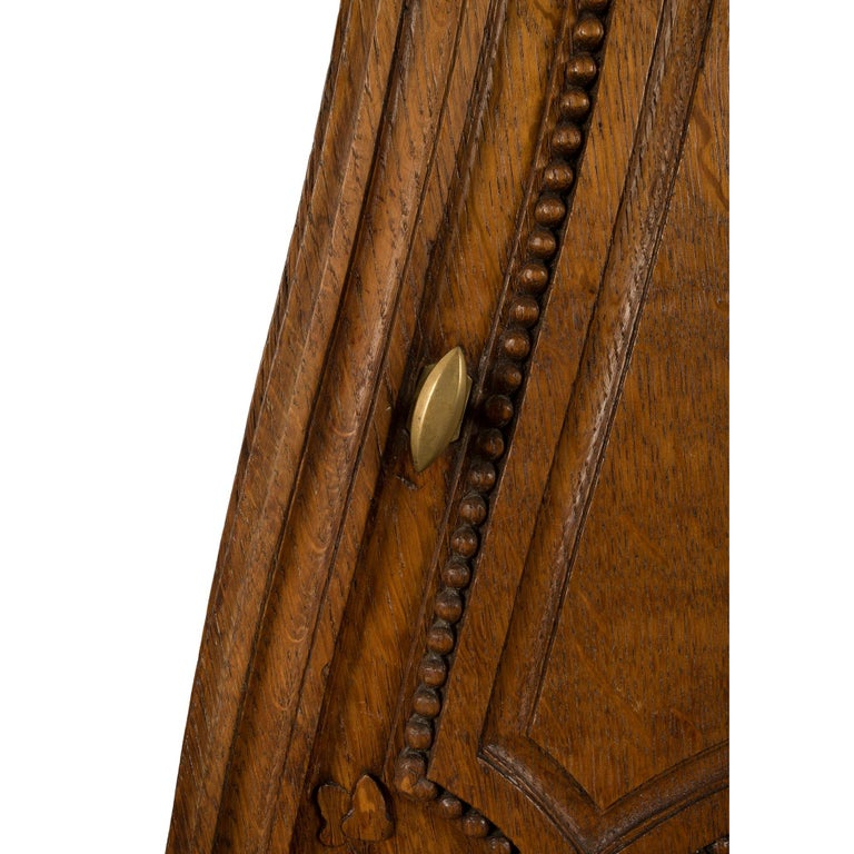 French 18th Century Louis XVI Period Oak Grandfather Clock For Sale 2