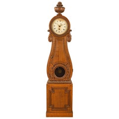French 18th Century Louis XVI Period Oak Grandfather Clock