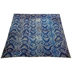 A french 18th indigo wax resist-dying quilt - Provence Circa 1780