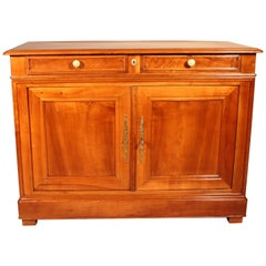 French 19 Century Cherry Wood Two-Door Buffet