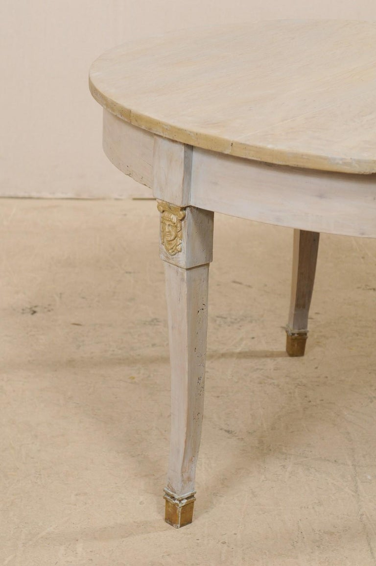 French 1920s Painted Wood Occasional or Center Table For Sale 7