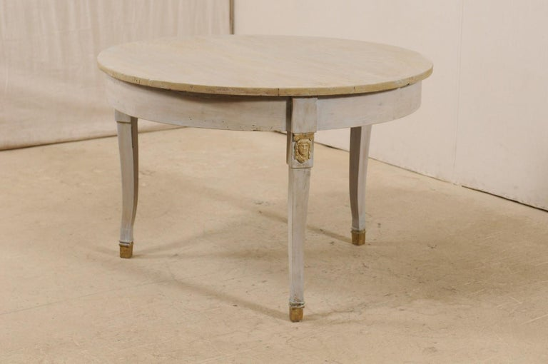 French 1920s Painted Wood Occasional or Center Table In Good Condition For Sale In Atlanta, GA