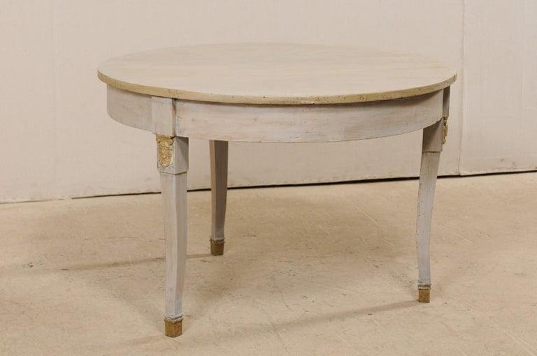 French 1920s Painted Wood Occasional or Center Table For Sale 1