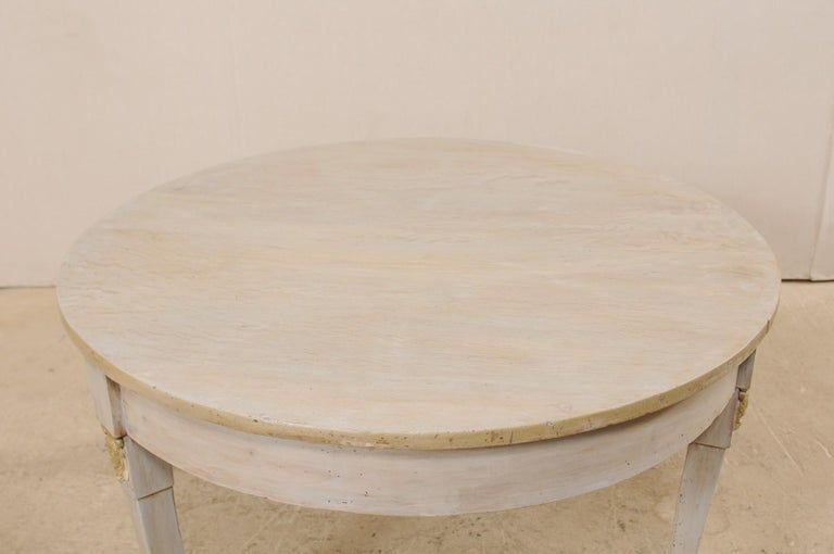 French 1920s Painted Wood Occasional or Center Table For Sale 2