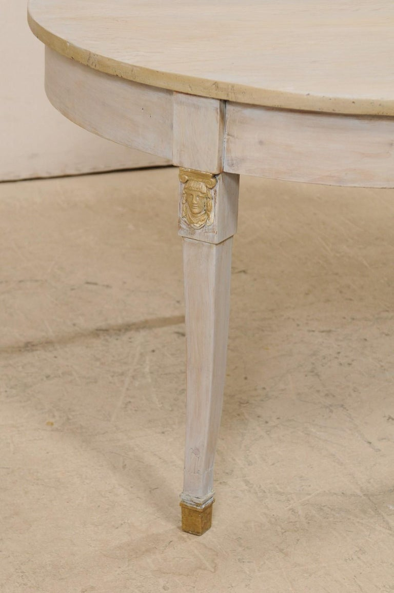 French 1920s Painted Wood Occasional or Center Table For Sale 3