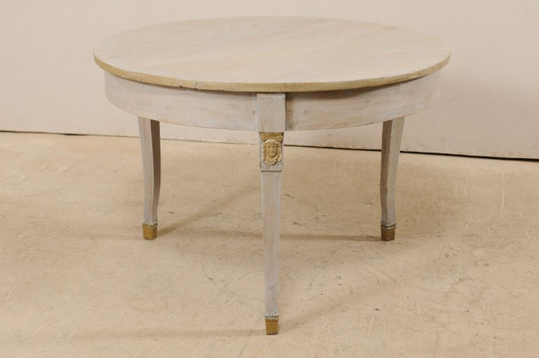 French 1920s Painted Wood Occasional or Center Table For Sale 5