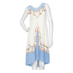 A French 1920s Vintage Embroidered Cotton Dress