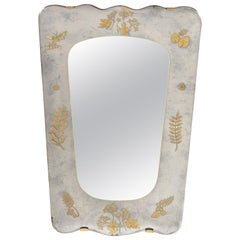 French 1950s Églomisé Beveled Mirror