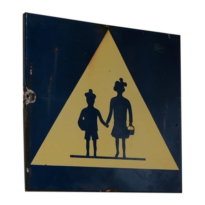 French 1950s Enamel Sign