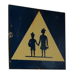 French 1950s Enamel Sign