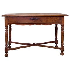 French 19th Century Chestnut Single Drawer Side Table