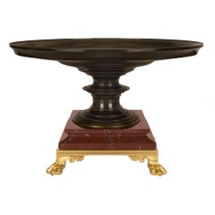 French 19th Century Grand Tour Period Bronze Tazza Signed F. LEVILLAIN 1866