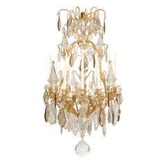 French 19th Century Louis XV Baccarat Crystal Chandelier, circa 1840