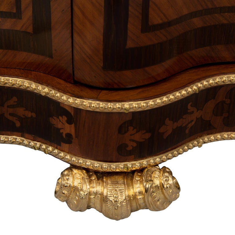 French 19th Century Louis XV St. Kingwood, Tulipwood and Ormolu Cave a Liqueur For Sale 3