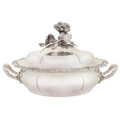 French 19th Century Louis XV Style Sterling Silver Tureen from Maison Odiot