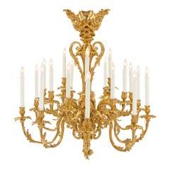 French 19th Century Louis XV Style Twenty One Arm Ormolu Chandelier