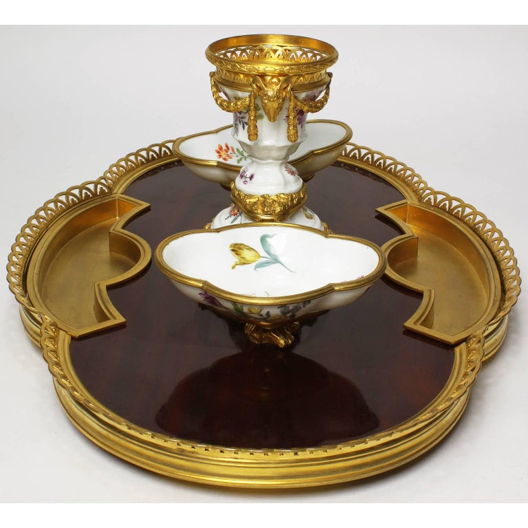 French 19th Century Louis XV Style Gilt-Bronze Encrier Inkwell by Boin Taburet For Sale 4