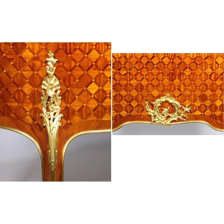 19th Century Louis XV Style Gilt-Bronze Mounted Secretary, Attributed to Millet For Sale 5