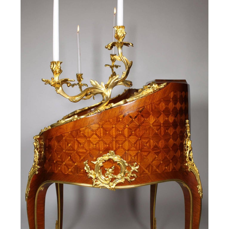 19th Century Louis XV Style Gilt-Bronze Mounted Secretary, Attributed to Millet For Sale 2