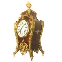 A French 19th Century Louis XV Style Ormolu Mounted Bracket Clock