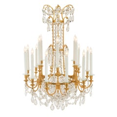 French 19th Century Louis XVI Syle Baccarat Crystal Chandelier