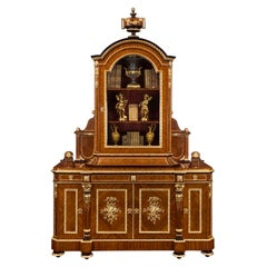 French 19th Century Louis XVI St. Belle Époque Period Cabinet, Signed GROHE