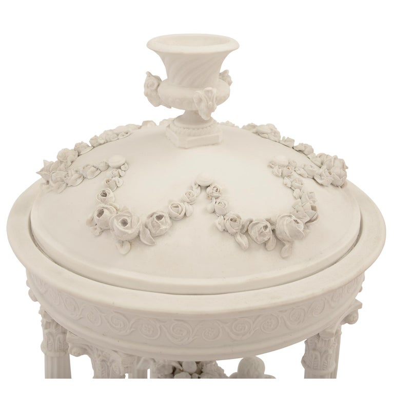 Porcelain French 19th Century Louis XVI Style Biscuit De Sèvres and Giltwood Centerpiece For Sale
