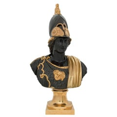 French 19th Century Louis XVI Style Bronze and Ormolu Bust of Pericles