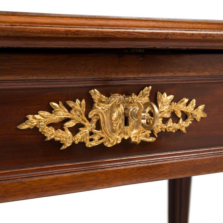 French 19th Century Louis XVI St. Mahogany and Ormolu Desk For Sale 3