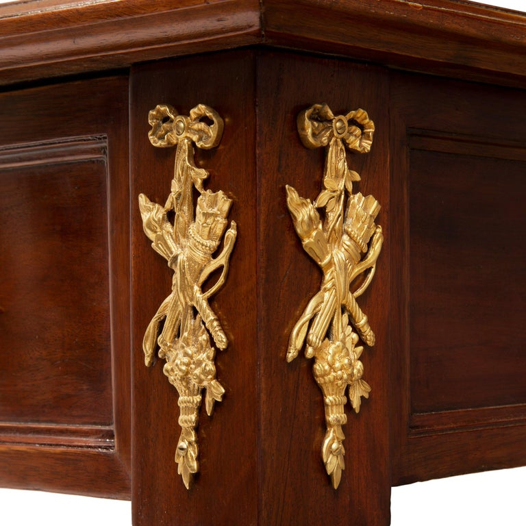 French 19th Century Louis XVI St. Mahogany and Ormolu Desk For Sale 4