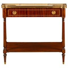 French 19th Century Louis XVI Style Mahogany and Ormolu Dessert Console